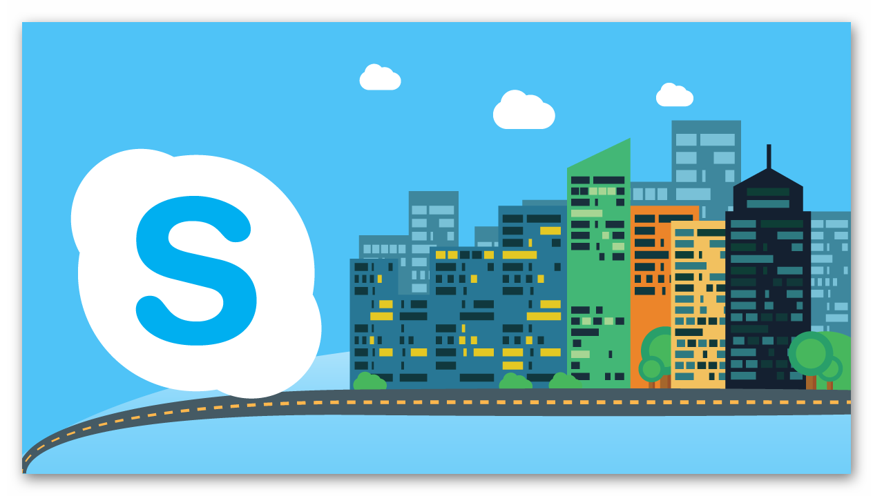 Стильная картинка Skype