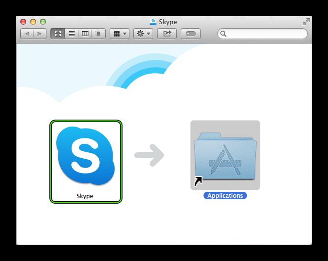 Установить Скайп для Mac