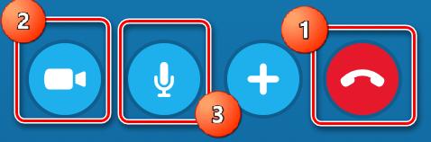 Кнопки Скайпа при звонках