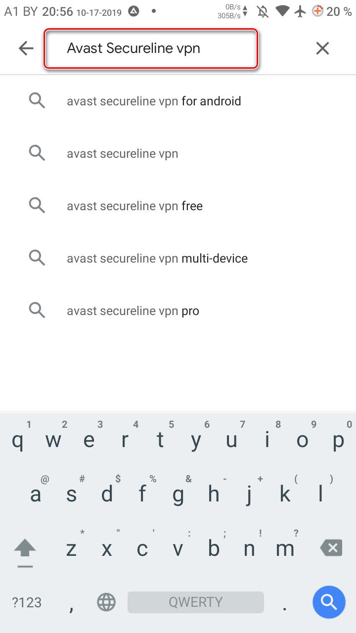 Поиск нужного приложения в Google Play