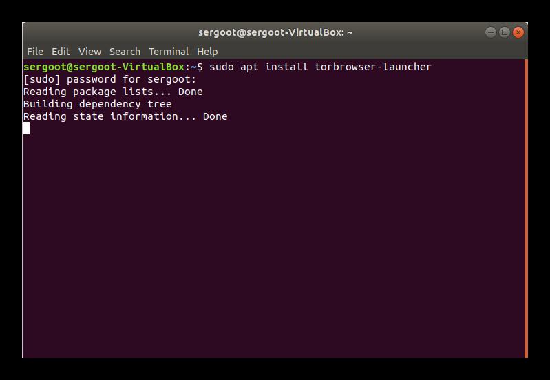 Установка Tor Browser в Терминале Linux