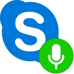 Как говорить в Скайпе по нажатию кнопки