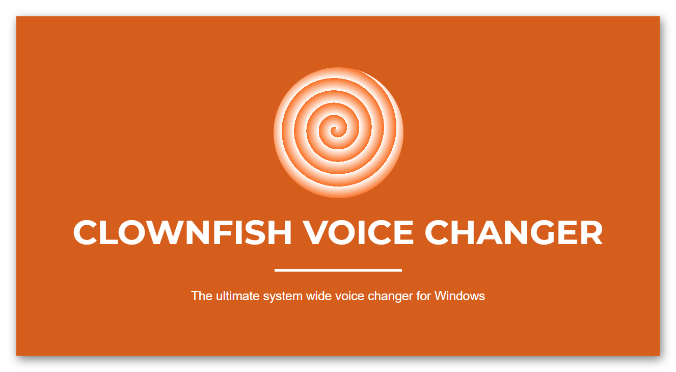 Логотип CLOWNFISH VOICE CHANGER