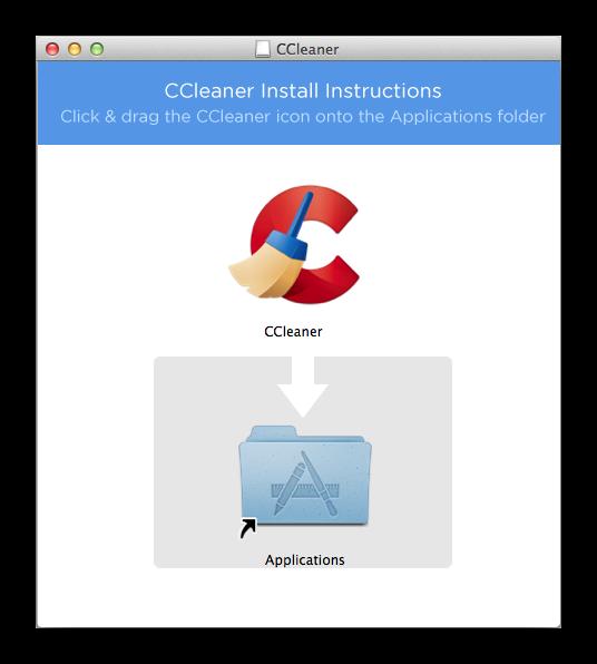 Форма установки CCleaner для Mac OS