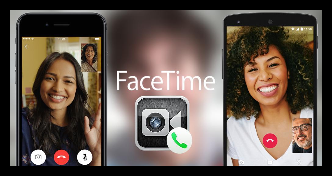 Картинка FaceTime на Айфоне