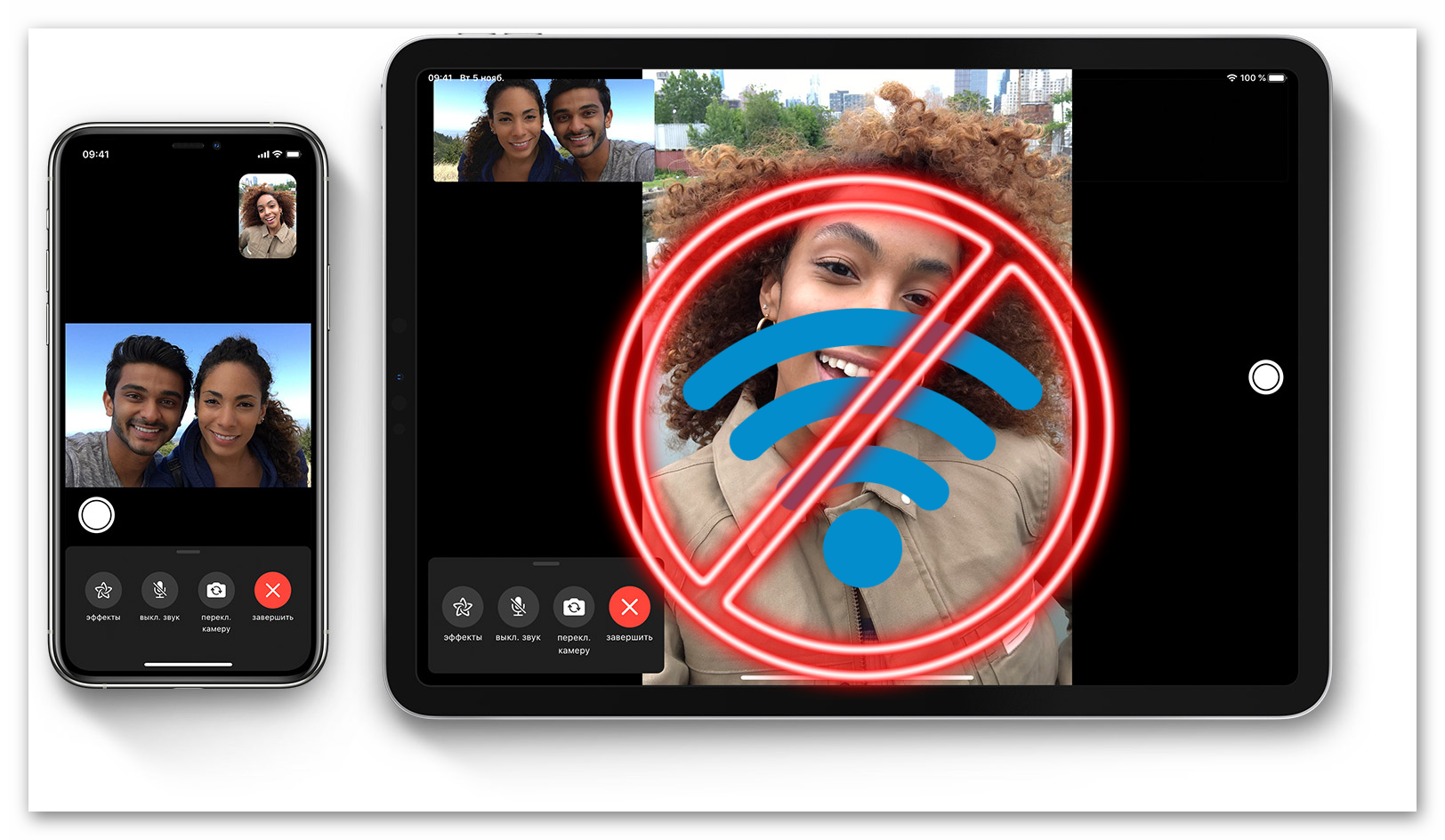 Картинка Почему FaceTime не работает без WiFi
