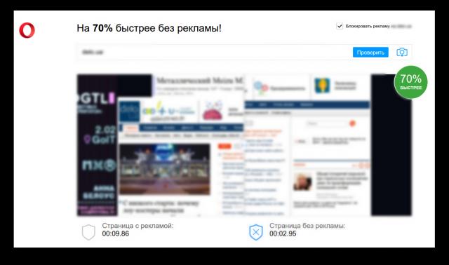 Блокиратор рекламы в Opera