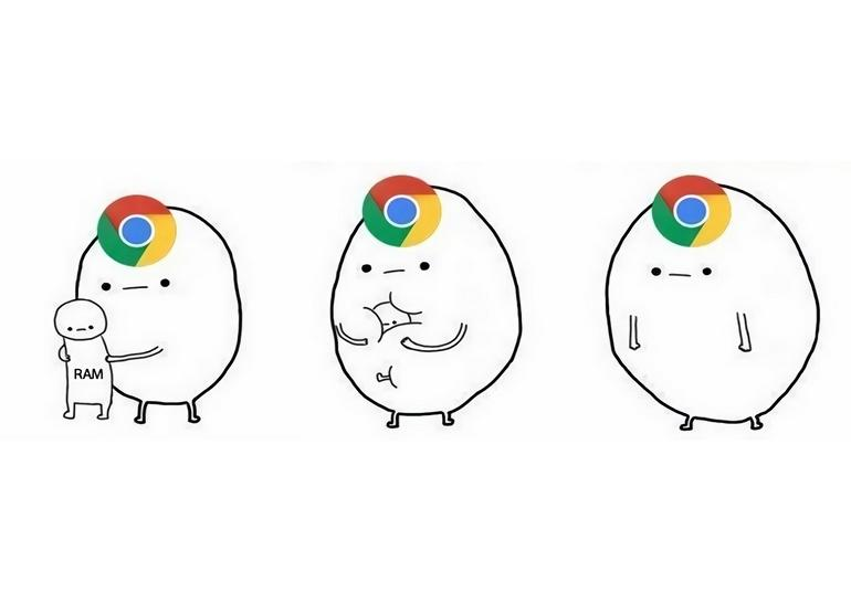 Google Chrome поглощает оперативную память