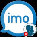 Как удалить контакт в imo