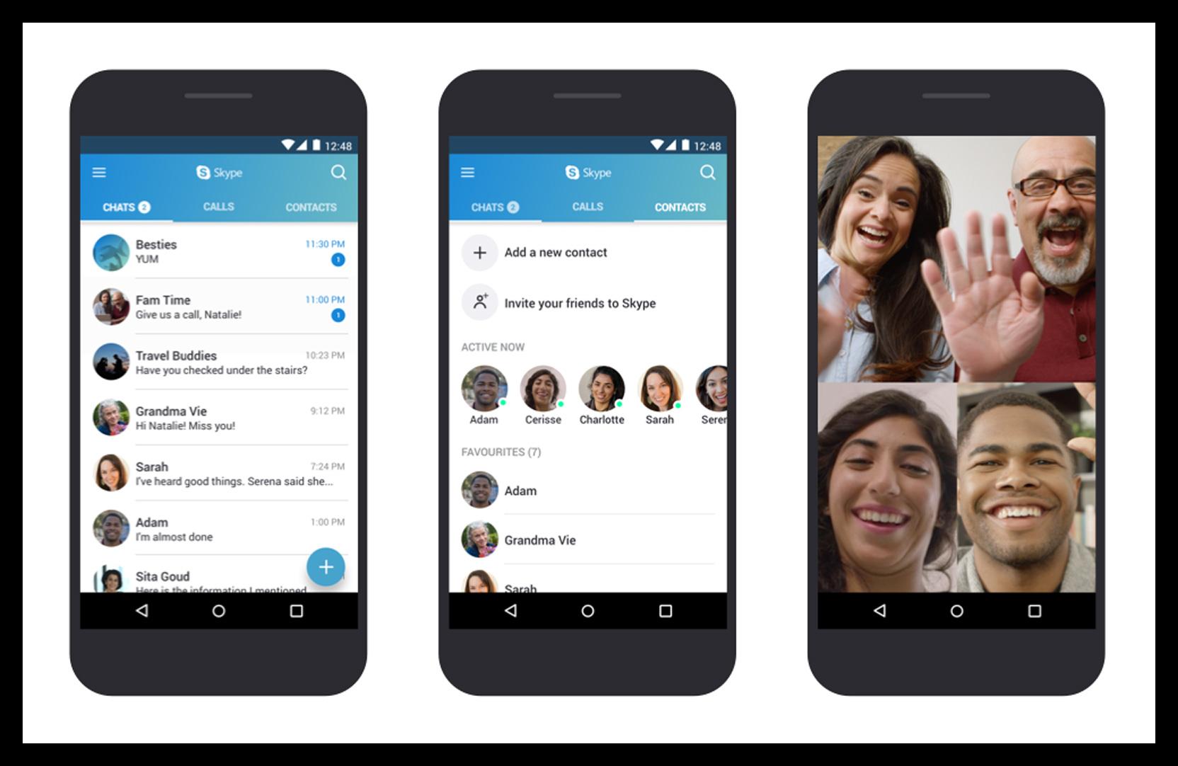 Картинка Приложение Skype на Android