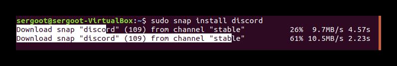 Непосредственно инсталляция Дискорда через Терминал Ubuntu