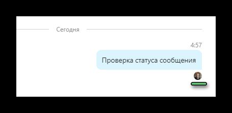 Проверка статуса сообщения в Skype для компьютера