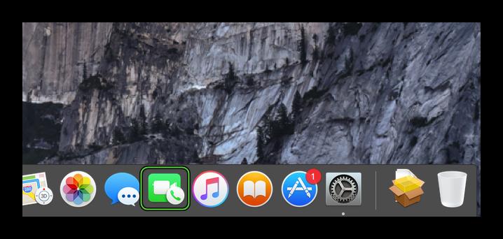 Иконка для запуска FaceTime для Mac OS