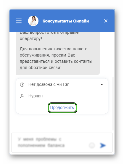 Обращение в онлайн-поддержку ЧиГап