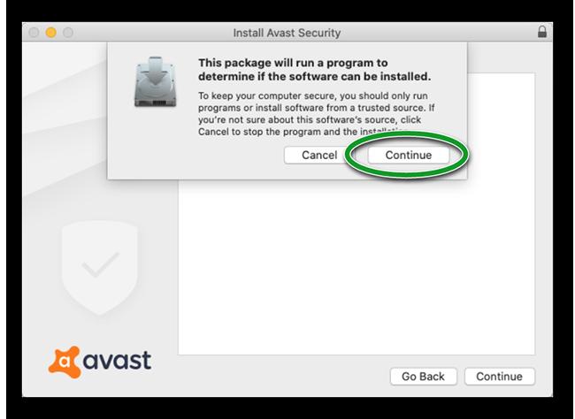 Установить антивирус Аваст на макбук