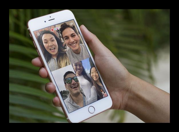 Картинка Групповые видеовызовы в FaceTime на iPhone
