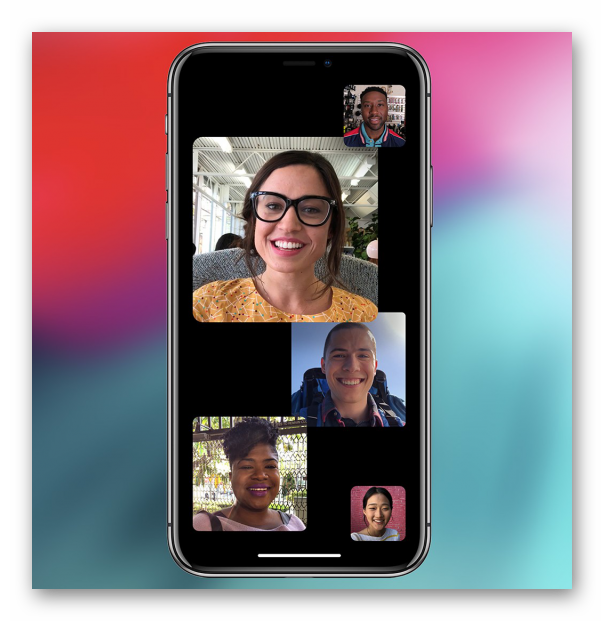 Картинка Групповые звонки в FaceTime на iPhone