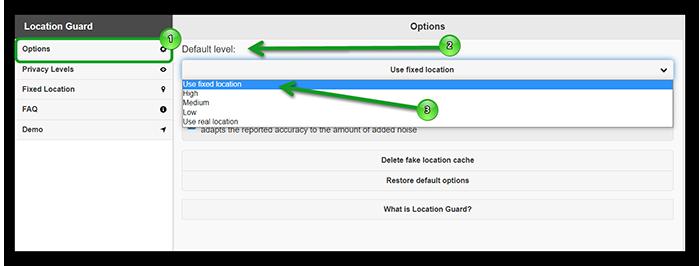Настроить местоположение в Гугл Хроме Location Guard