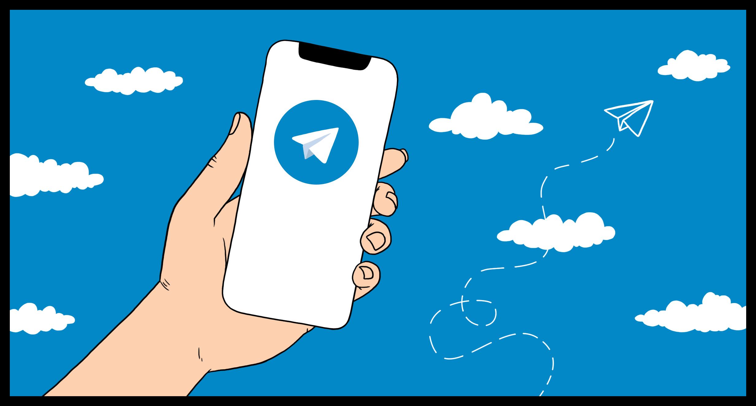Картинка Нарисованный Telegram