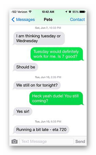 Аймесседж отправка сообщения как СМС