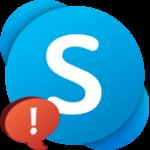 К сожалению не удалось подключиться к Skype