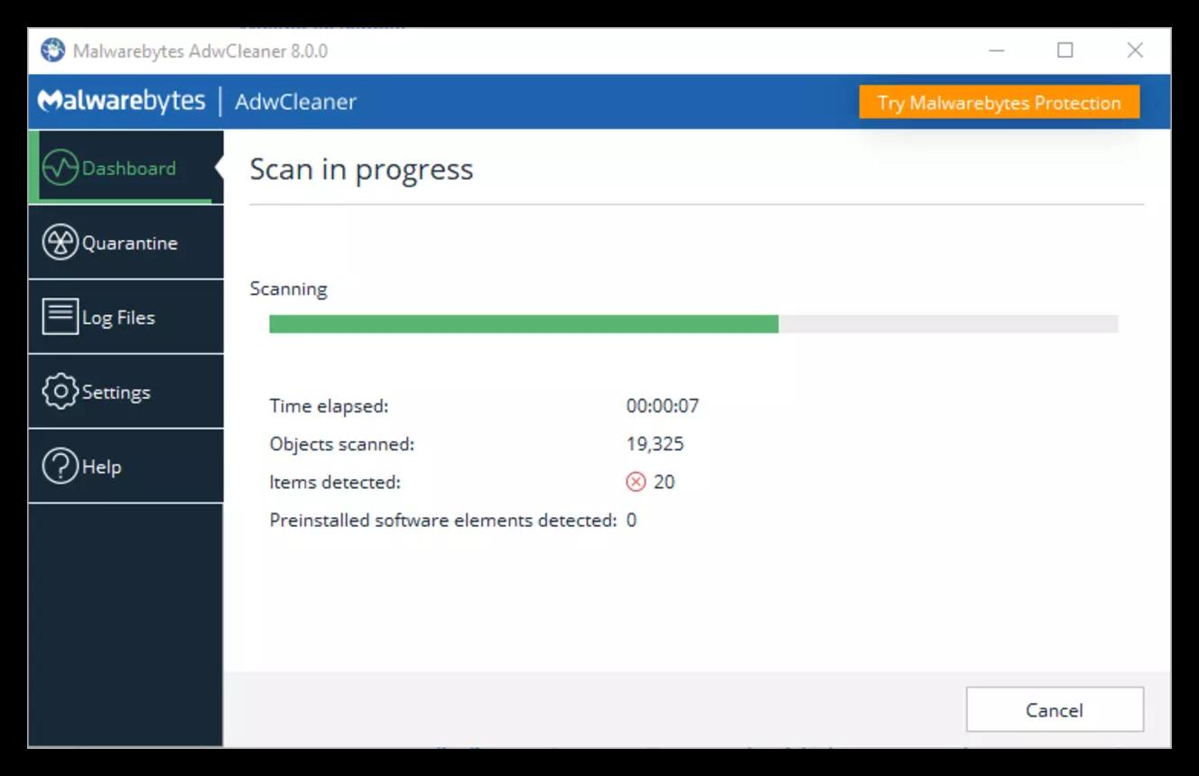 Проверка на вирусы с помощью программы MalwareBytes