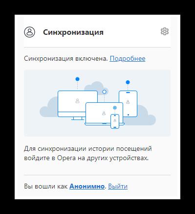 Синхронизация в браузере Опера