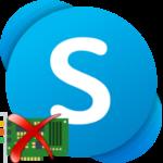 В Skype не удается обнаружить звуковую плату