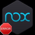 Ошибка при установке Nox App Player