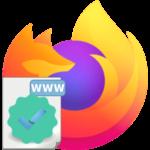 Как добавить сайт в список надежных в Mozilla Firefox