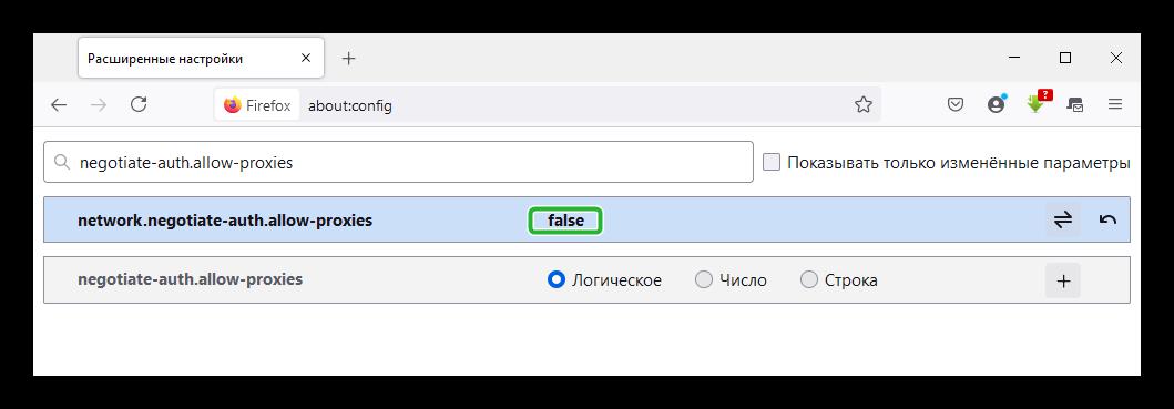 Настройки сохранения прокси через Расширенные настройки Mozilla Firefox