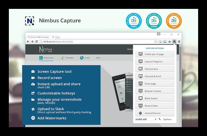 Nimbus ScreenShot и Screencast для записи экрана в Гуул Хром