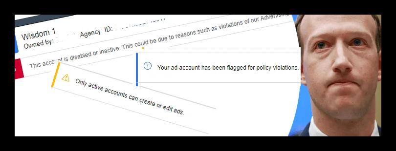 Причины блокировки рекламных аккаунтов в Фейсбуке