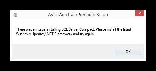 Ошибки Avast AntiTrack