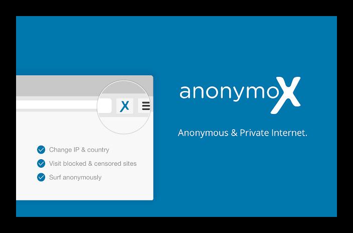 Расширение anonymoX для Google Chrome